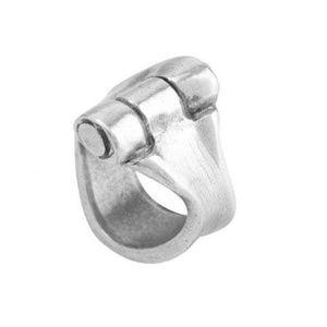 """Uno De 50 UnoDe50 """"Hinge"""" Ring Silver NEW!"""